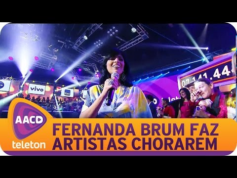 TELETON  - Fernanda Brum faz artistas chorarem no Teleton.