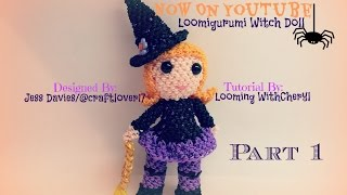 Rainbow Loom Witch Doll Part 1 of 2 - Loomigurumi / Amigurumi - Looming WithCheryl