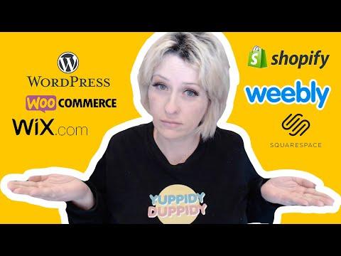 Shopify Vs WordPress Vs Wix Vs Weebly Vs Squarespace 2020 - Shopify vs woocommerce, wix vs wordpress