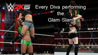 WWE 2K15 (PS4) Every Diva performing the Glam Slam