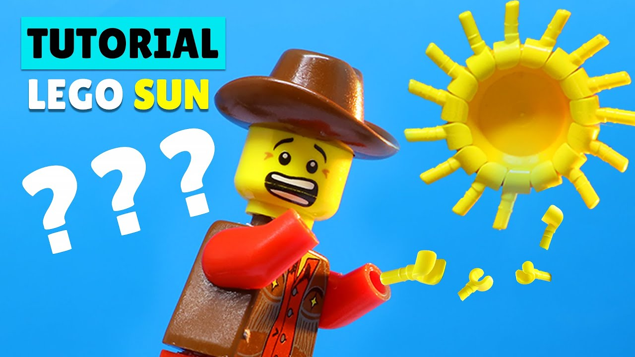 How To Build Lego Sun With Minifigures? #Shorts