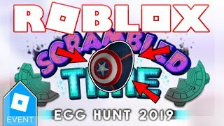 [EGG HUNT 2019 ENDED] HOW TO GET THE CAPTAIN AMERICA EGG! | Roblox Scrambled In Time