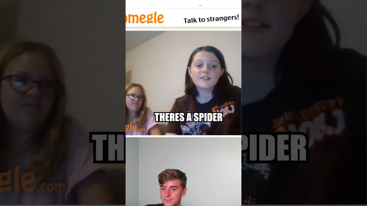 SPIDER JUMPSCARE ON OMEGLE! #shorts