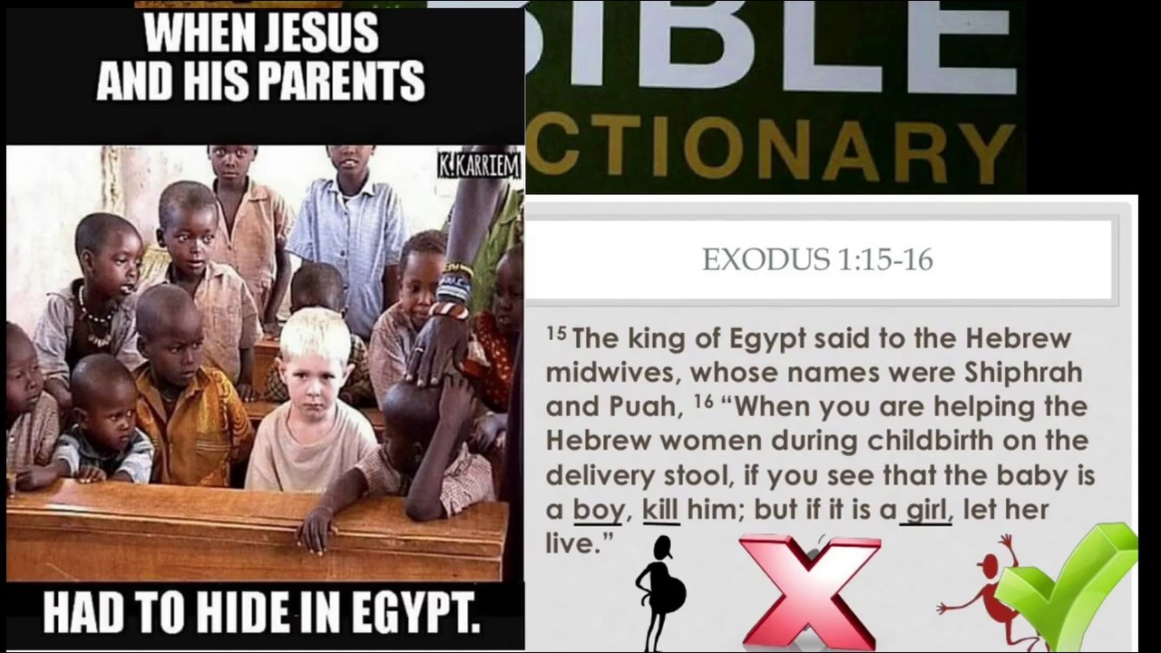 Bible clearly say Hebrews & Egyptians are black