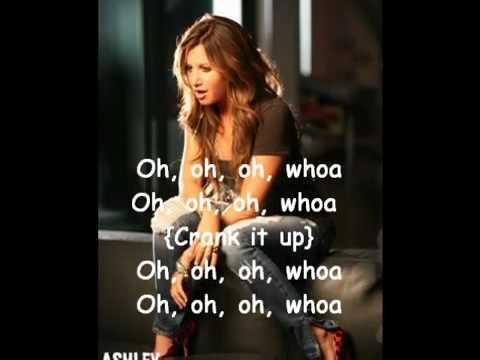 Ashley Tisdale - Crank it up lyrics & karaoke