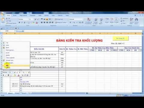 Bài 4 Học VBA excel thực dụng trong xây dựng (Nguyễn Phú Bình: xaydung360.vn)