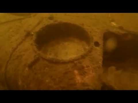 Underwater metal detecting. Kurland