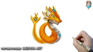 Как нарисовать Дракона Лучезарный из Dragon Mania Legends.