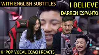 K-pop Vocal Coach reacts to Darren Espanto - I Believe