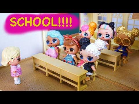 LOL SURPRISE DOLLS First Day Of School & Creepy Cutie!