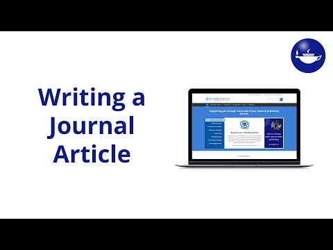 What to think about before you start to write a journal arti