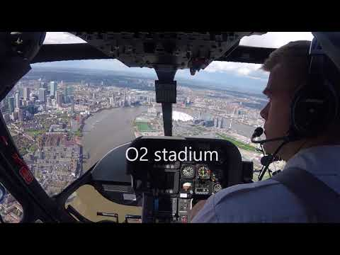 London skyline, by Helicopter