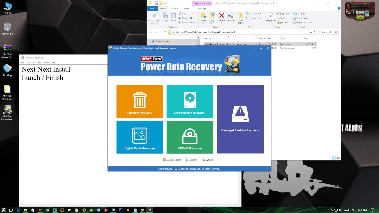 minitool power data recovery 7.0 download