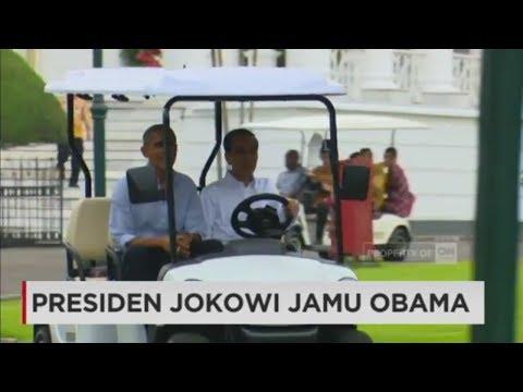 Presiden Jokowi & Obama Naik Mobil Golf di Istana Bogor - Obama Mudik 2017