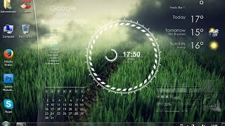Amazing Transparent rainmeter skin download and install [Mediafire]