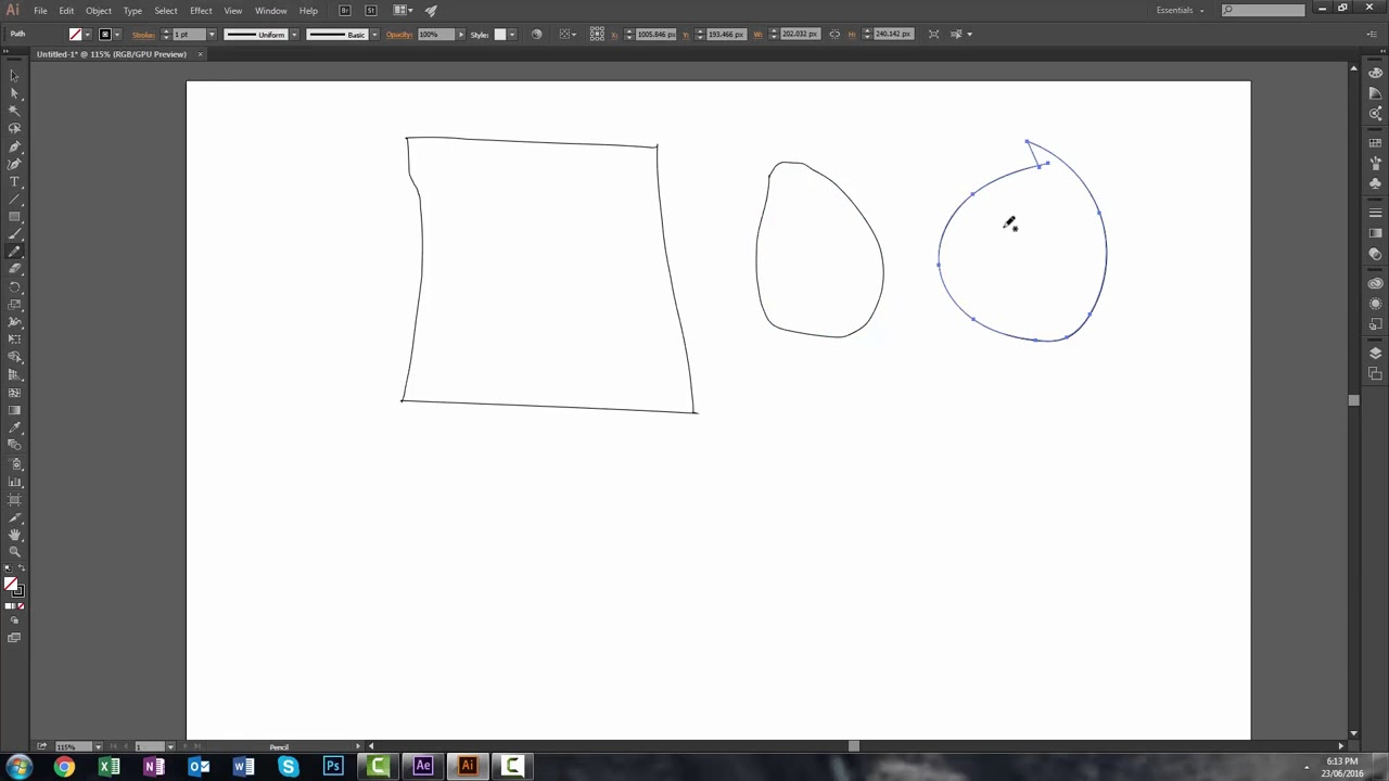 How To Smooth Drawing Lines In Illustrator : Adobe illustrator pencil tool how to create smooth paths with