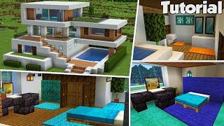 Minecraft: Large Modern House #32 Interior Tutorial (Easy)