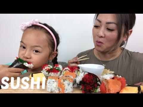 SUSHI | MUKBANG | N.E Let's Eat