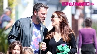 Ben Affleck & Jennifer Garner Rekindle Their Romance At Church With The Kids 3.26.17