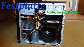 Die Festplatte am Computer ausbauen und einbauen [German/HD]