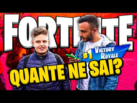 QUANTE NE SAI SU FORTNITE? QUIZ PAZZESCO TRA LA GENTE! (Fortnite Stampers)