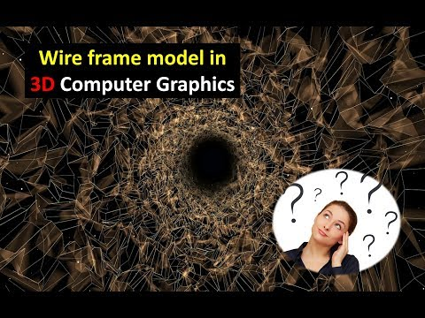 Wire frame model in 3 D computer graphics