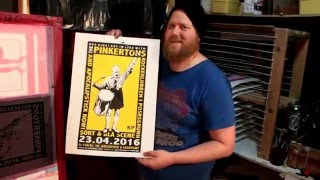 Printing Posters for The Pinkertons (supp: Apocalipstick NOW) gig at Rockeklubben i Porsgrunn nr2