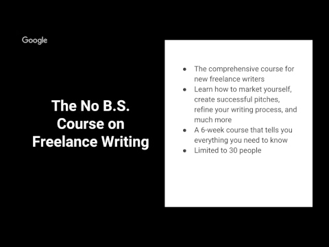 Free Preview: The No B.S. Course on Freelance Writing