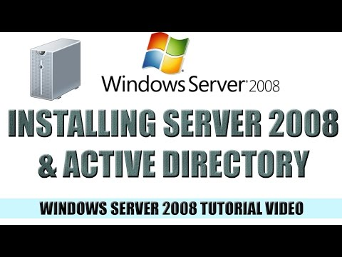 03 - Installing Server 2008 and Active Directory - Windows Server 2008 Tutorial