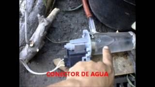 Molino para fuente de agua con Bomba casera