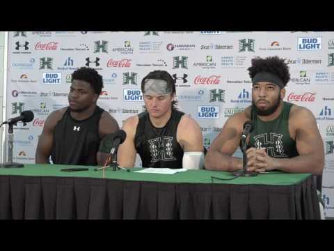 Hawaii Football Post Game Press Conference vs. Nevada (Saint Juste, Brown, Williams)