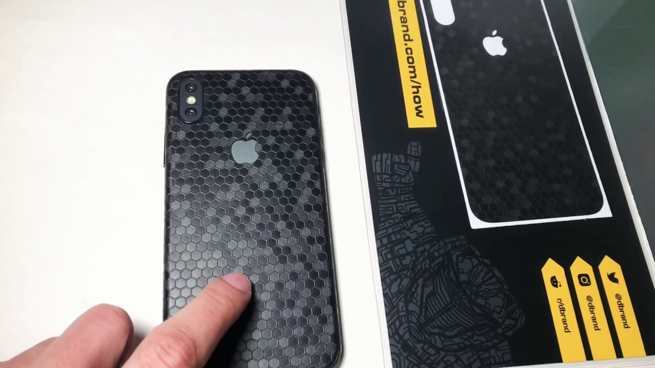 new product b3578 074fe dbrand NEW Black Swarm Skin iPhone X XS