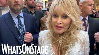 Dolly Parton and cast at 9 to 5 the Musical opening night