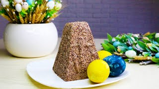 Творожная пасха заварная с шоколадом