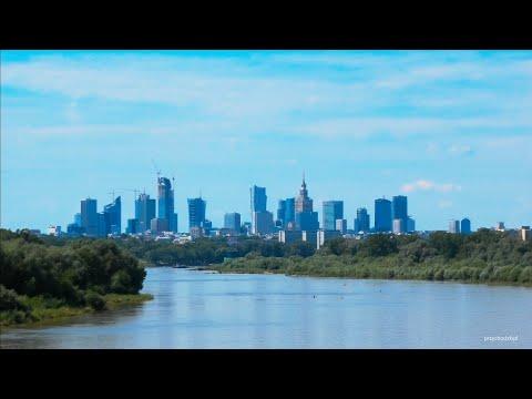Warszawa / Warsaw Skyline & Varso Tower z Mostu Siekierkowskiego / view from Siekierkowski Bridge