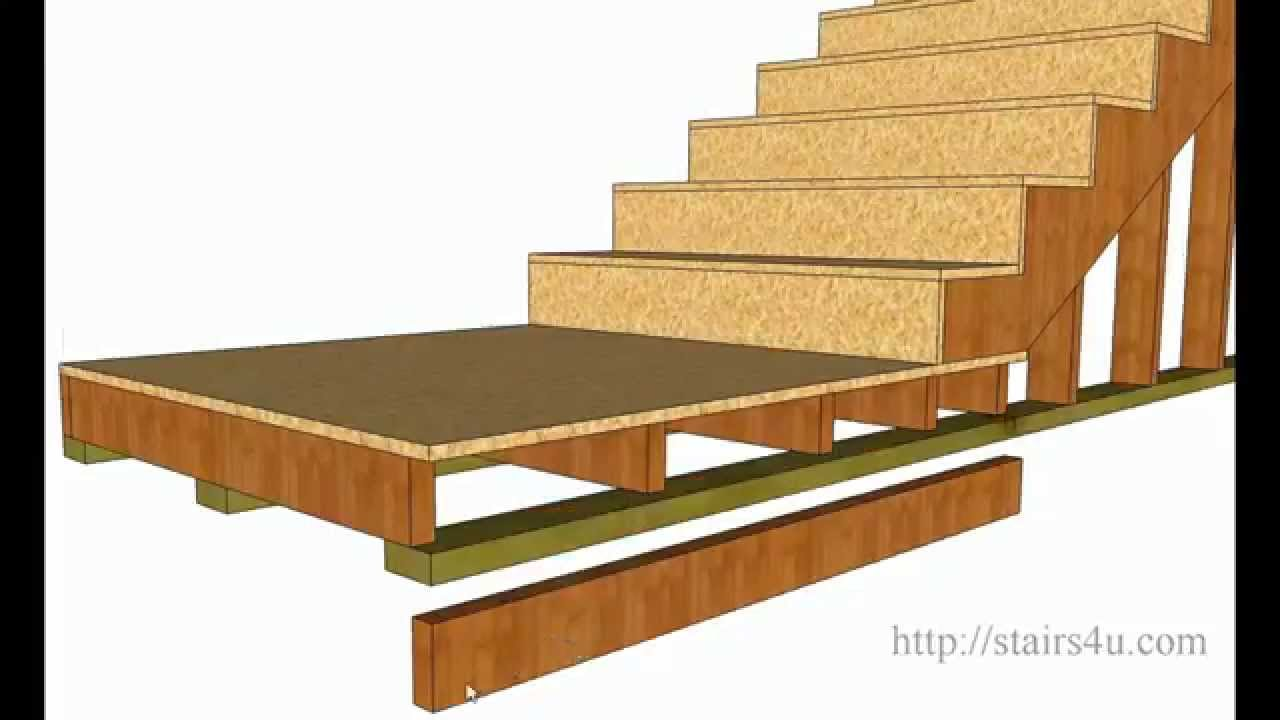How To Figure Floor Landing Joist Height \u2013 Stair Building Tips ...