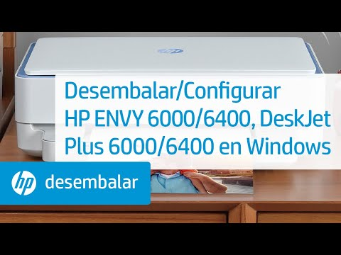 Desembalar/Configurar HP ENVY 6000, Pro 6400, DeskJet Plus IA 6000/6400 en Windows | HP
