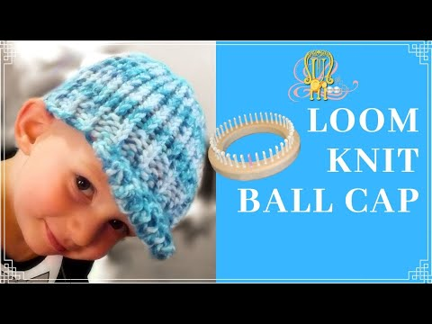 How to Loom Knit a Ball Cap