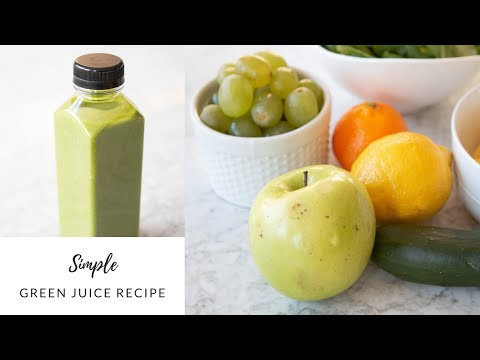 The Simple Green Juice Recipe We Drink in the Mornings