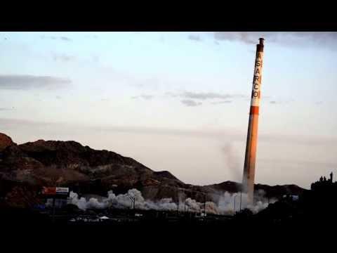 El Paso Asarco stacks demolition