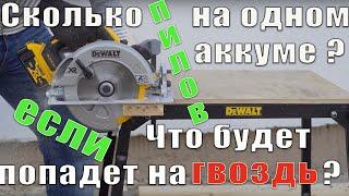 ПИЛИМ ГВОЗДИ ЦИРКУЛЯРКОЙ! / Обзор дисковой пилы DeWALT DCS570 / Розыгрыш!