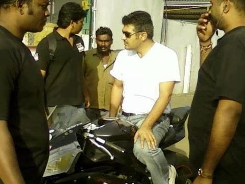 Ajith's Bike Trip to Tiruchengode after Surgery-Ajith Fans Happy Welcome