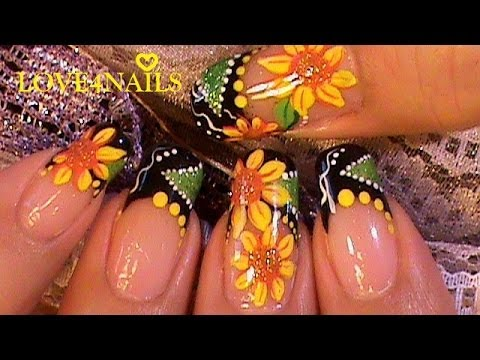 Como Pintar Girasoles En Sus Uñas Esta Primavera Paso A Paso Youtube