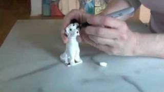 כלב דלמטי מפלסטלינה