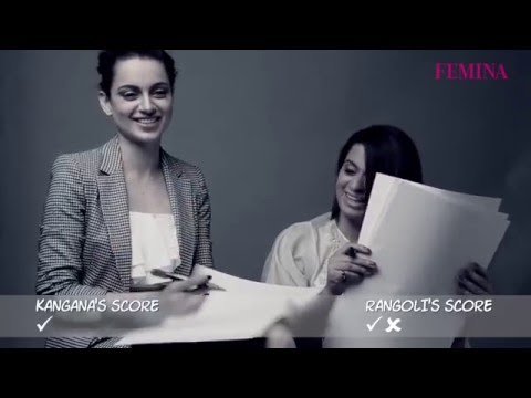 Kangana Ranaut Shoots With Her Sister Exclusively For Femina Cover