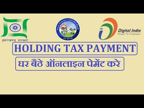 How to pay holding tax payment online