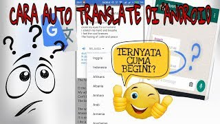Cara auto translate di android