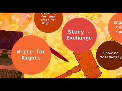 Write for Rights: Online Training for event organizers