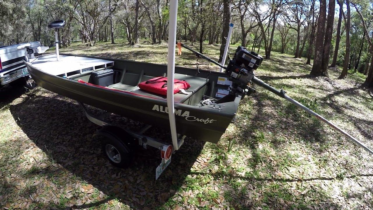 1436 lt alumacraft jon boat to bass boat youtube for Buy bass boat without motor