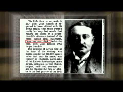 Rare. Last Words of Cecil Rhodes.... Inspiring...